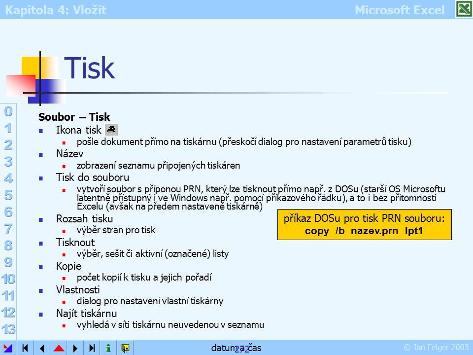 příkaz DOSu pro tisk PRN souboru: copy /b nazev.prn lpt1