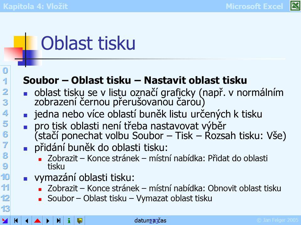 Oblast tisku Soubor – Oblast tisku – Nastavit oblast tisku