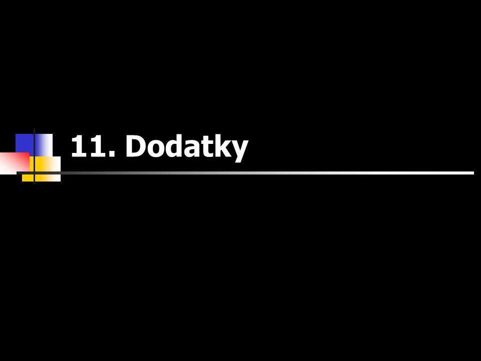11. Dodatky