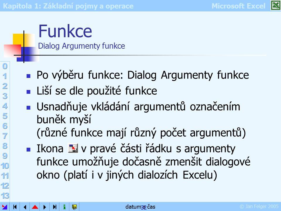 Funkce Dialog Argumenty funkce