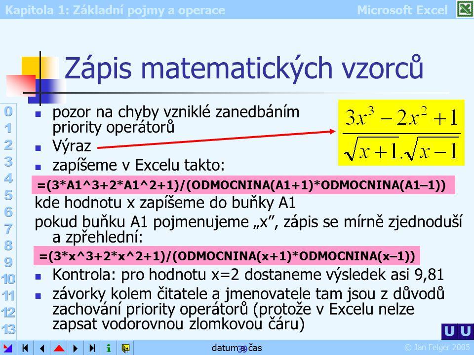 Zápis matematických vzorců