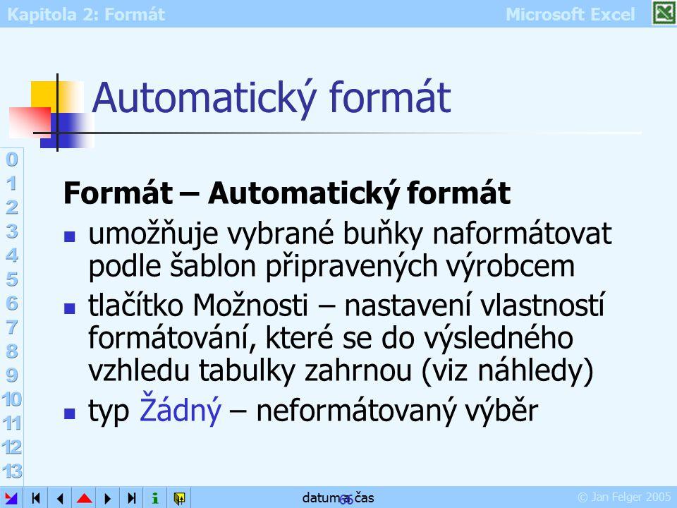 Automatický formát Formát – Automatický formát