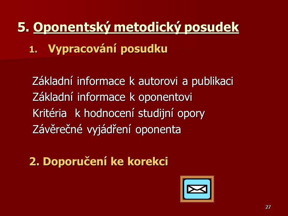 5. Oponentský metodický posudek