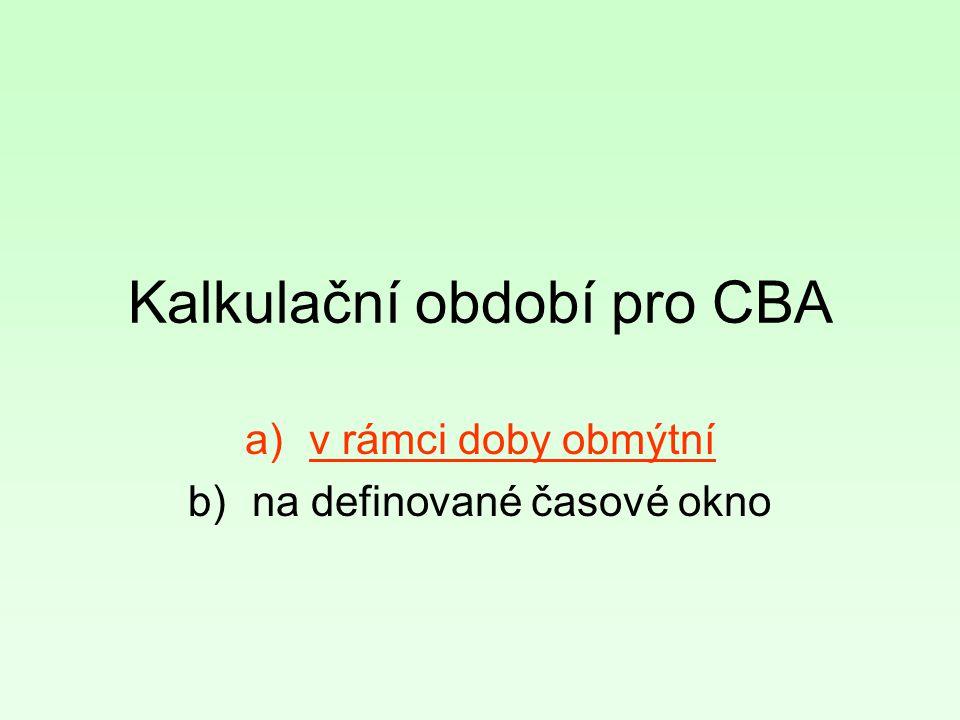 Kalkulační období pro CBA