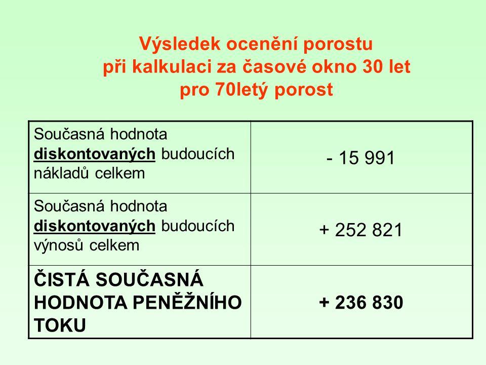 ČISTÁ SOUČASNÁ HODNOTA PENĚŽNÍHO TOKU + 236 830