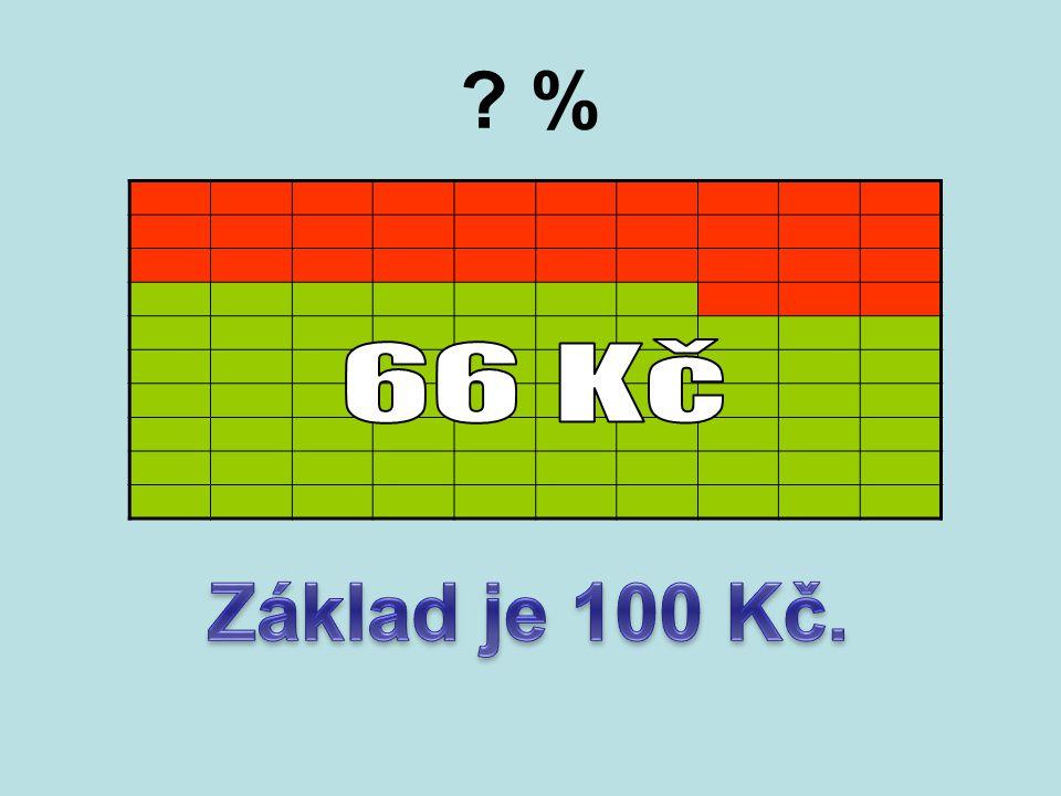 % 66 Kč Základ je 100 Kč.
