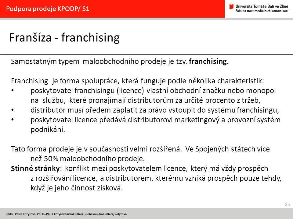 Franšíza - franchising