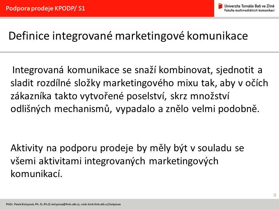 Definice integrované marketingové komunikace