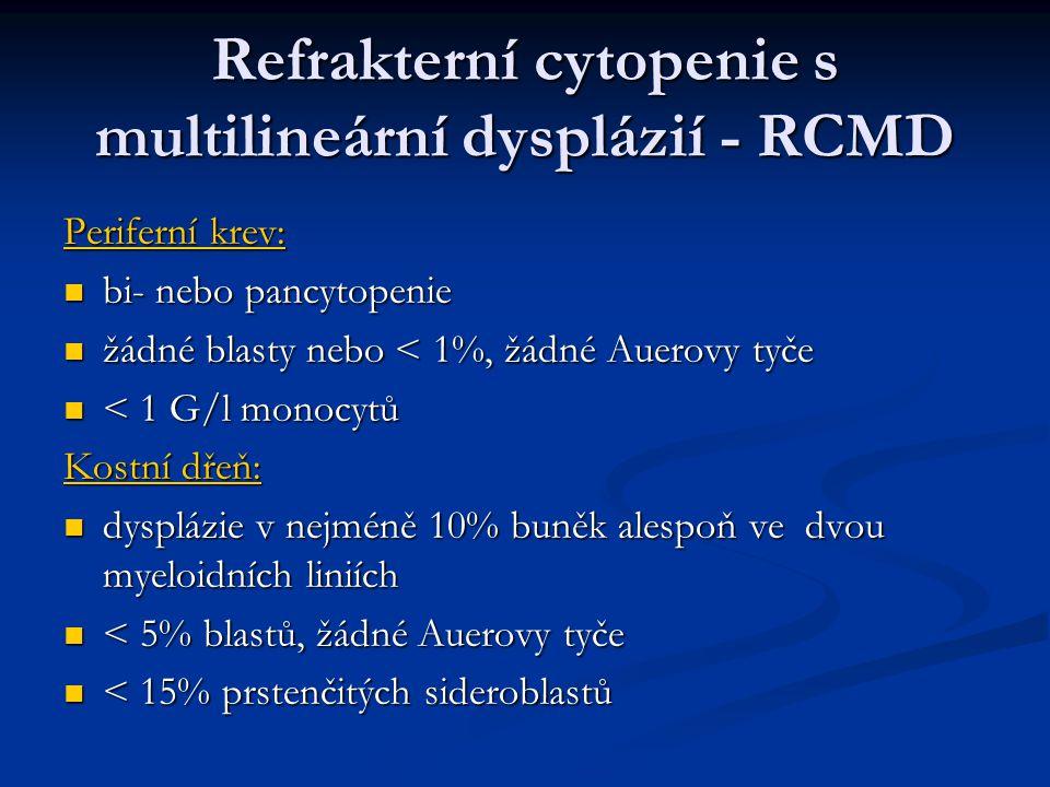 Refrakterní cytopenie s multilineární dysplázií - RCMD