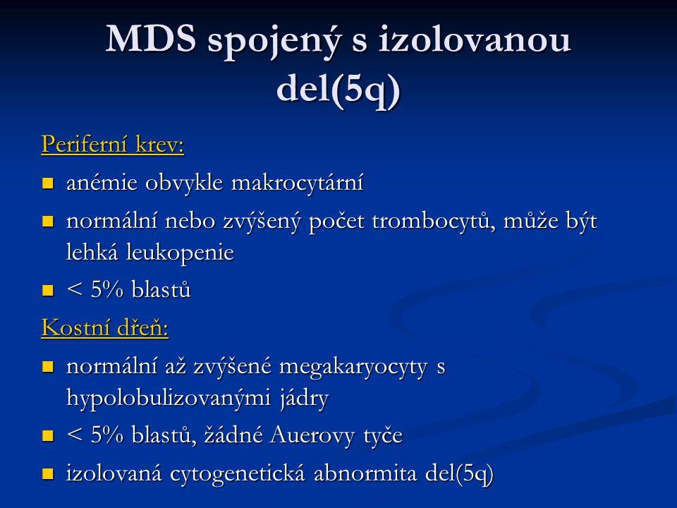 MDS spojený s izolovanou del(5q)