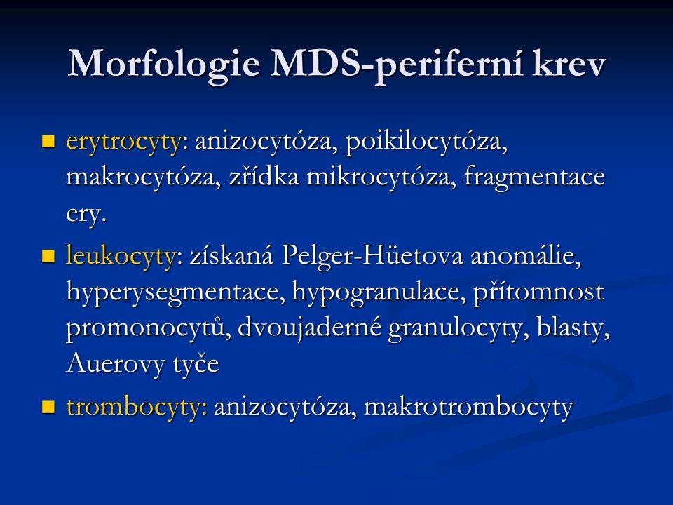 Morfologie MDS-periferní krev