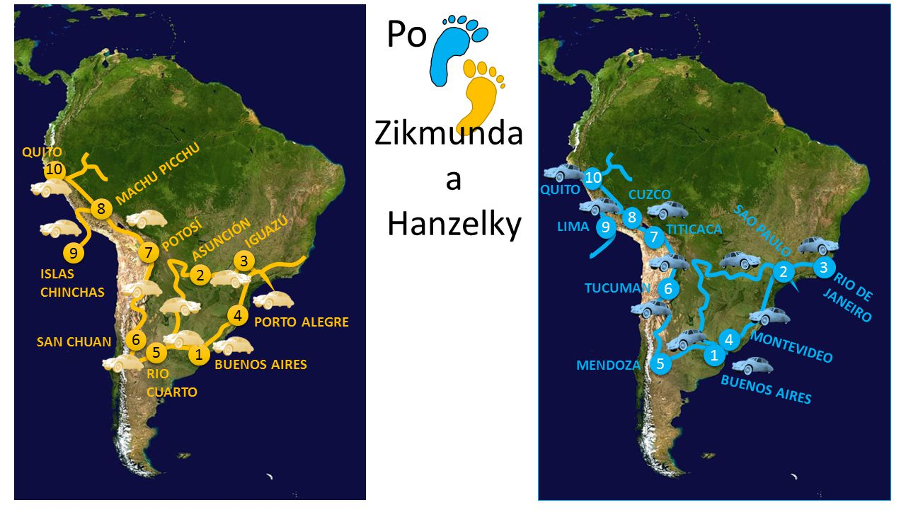 Po Zikmunda a Hanzelky 10 10 8 8 9 7 9 7 3 3 2 2 6 4 6 4 5 1 1 5 QUITO
