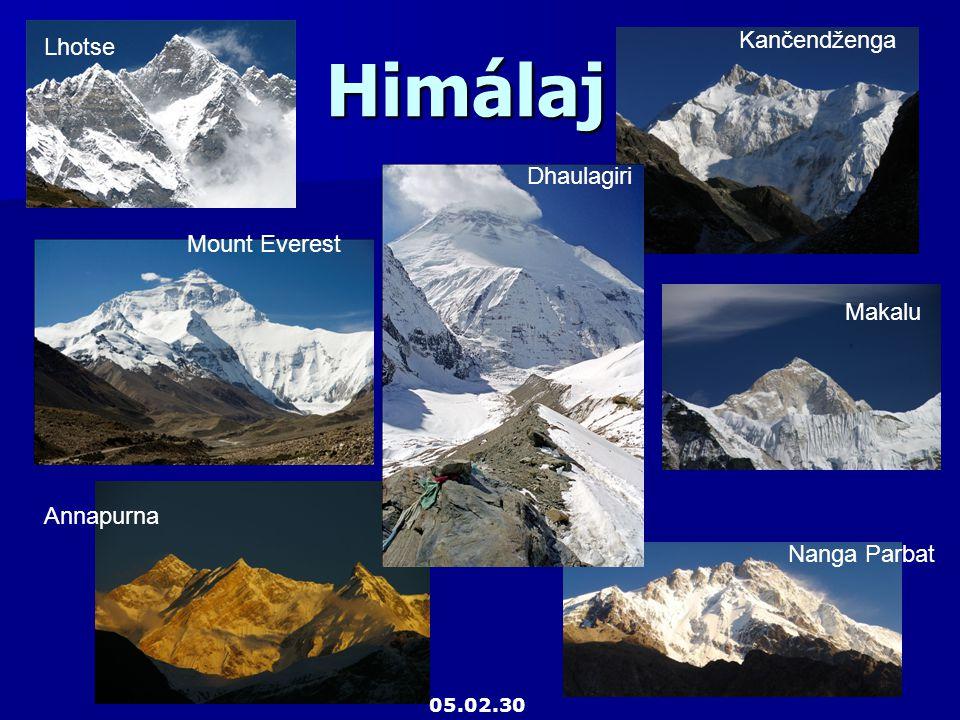 Himálaj Kančendženga Lhotse Dhaulagiri Mount Everest Makalu Annapurna