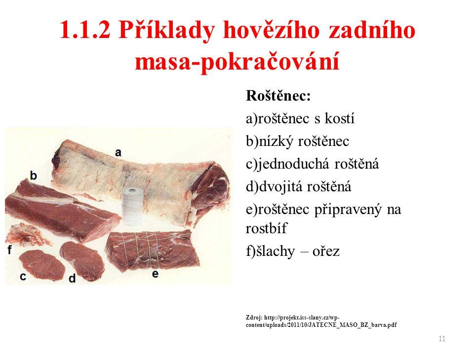 1.1.2 Příklady hovězího zadního masa-pokračování