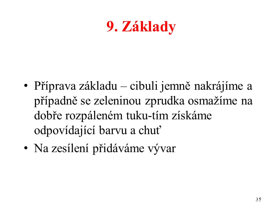 9. Základy