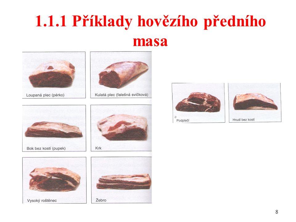 1.1.1 Příklady hovězího předního masa