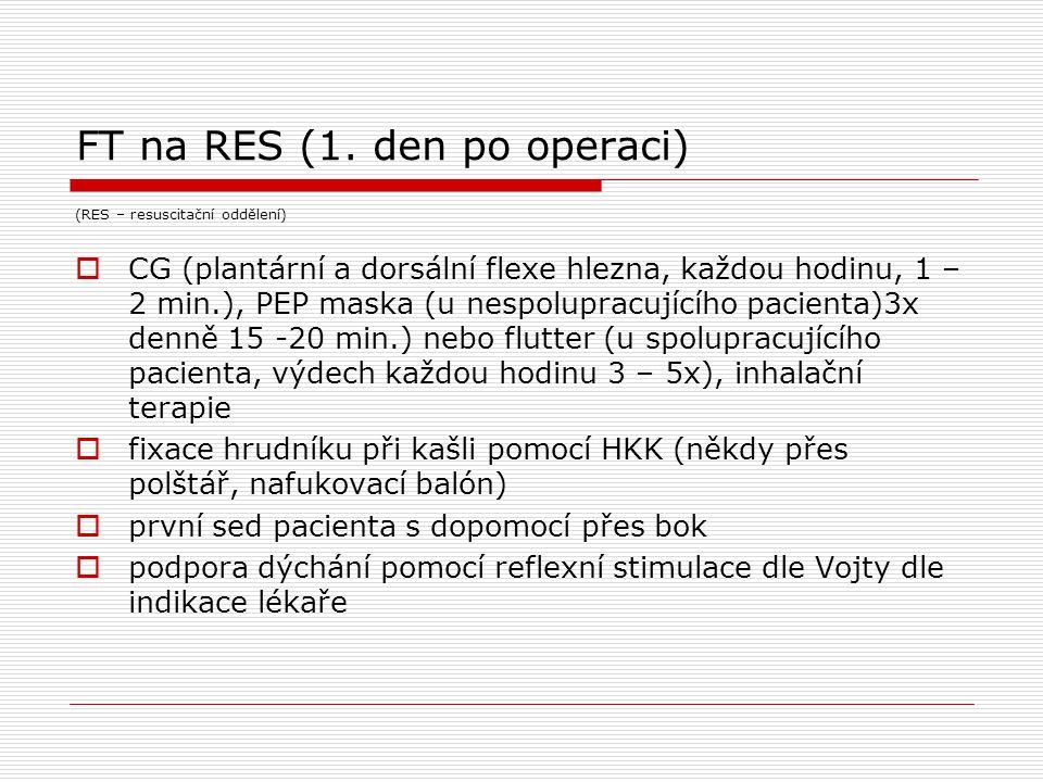 FT na RES (1. den po operaci)