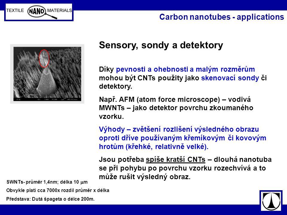 Sensory, sondy a detektory