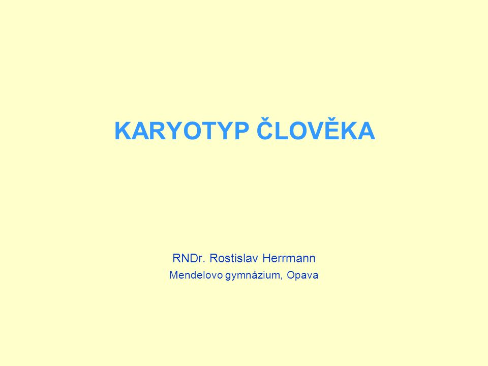 RNDr. Rostislav Herrmann Mendelovo gymnázium, Opava