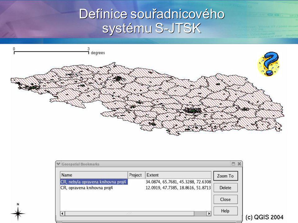 Definice souřadnicového systému S-JTSK