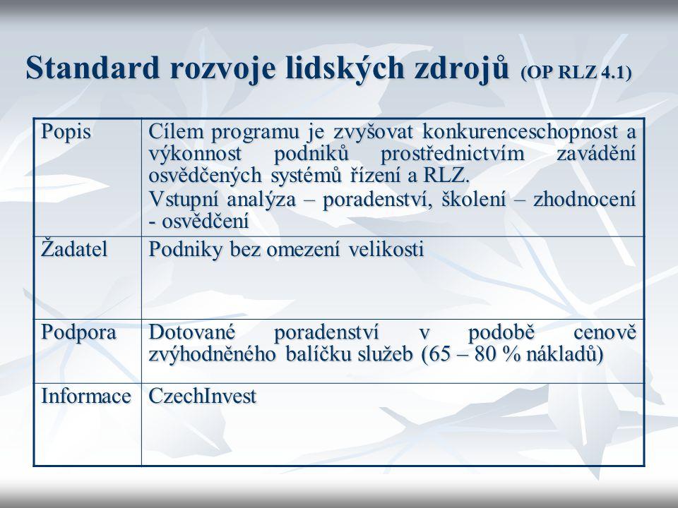 Standard rozvoje lidských zdrojů (OP RLZ 4.1)