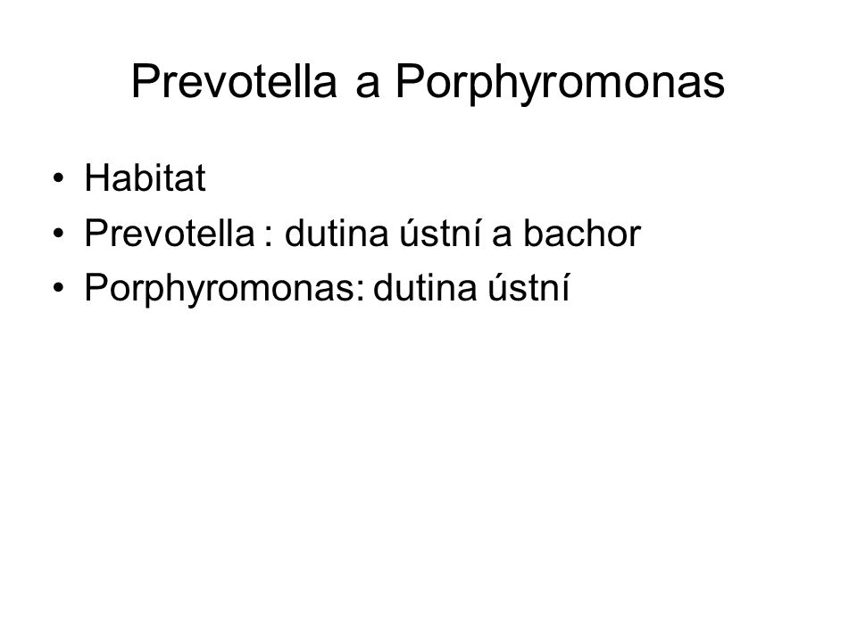 Prevotella a Porphyromonas
