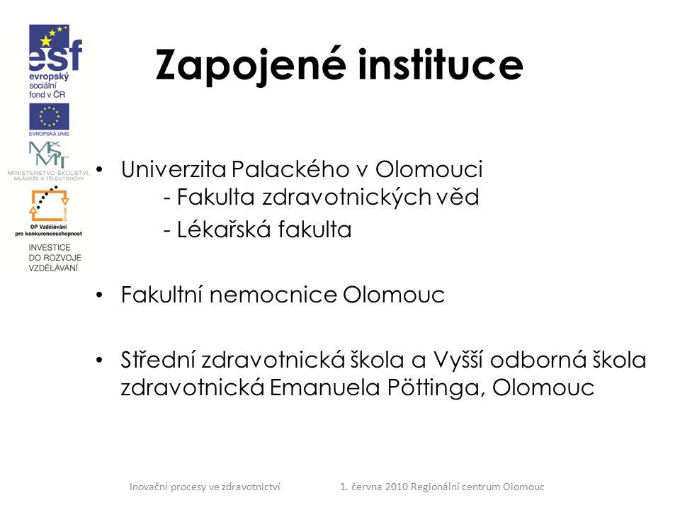 Zapojené instituce Univerzita Palackého v Olomouci - Fakulta zdravotnických věd. - Lékařská fakulta.
