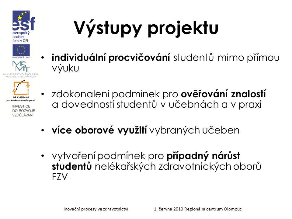 Výstupy projektu individuální procvičování studentů mimo přímou výuku