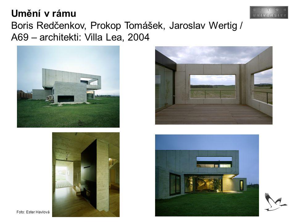 Umění v rámu Boris Redčenkov, Prokop Tomášek, Jaroslav Wertig / A69 – architekti: Villa Lea, 2004.
