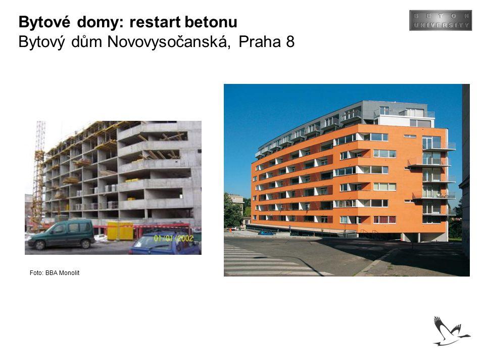 Bytové domy: restart betonu Bytový dům Novovysočanská, Praha 8