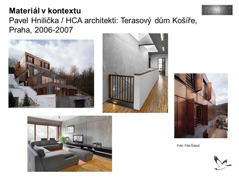 Pavel Hnilička / HCA architekti: Terasový dům Košíře, Praha, 2006-2007