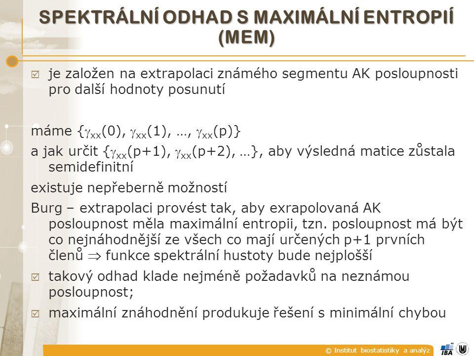spektrální odhad S maximální entropií (MEM)