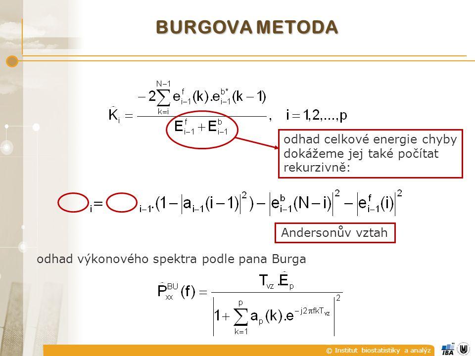 burgova metoda odhad celkové energie chyby
