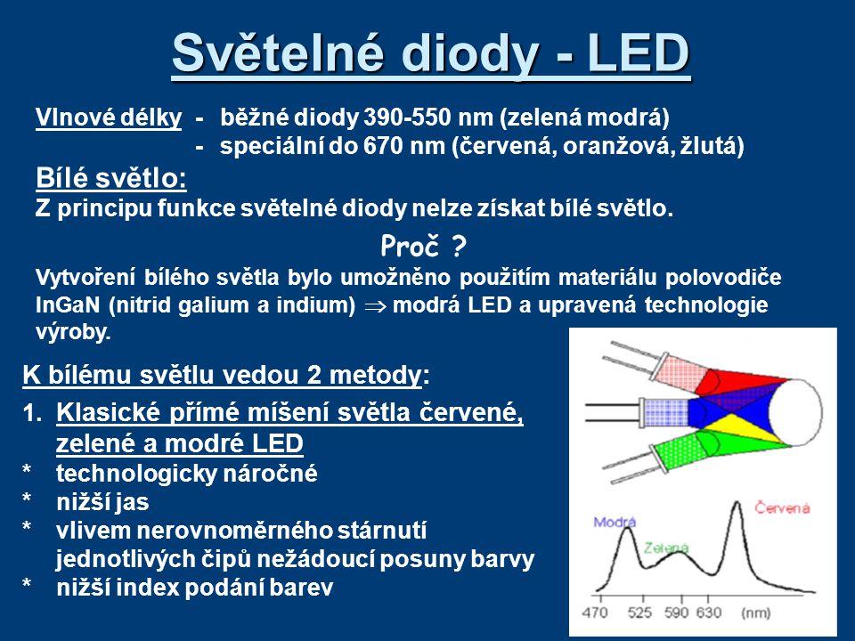 Světelné diody - LED Bílé světlo: Proč