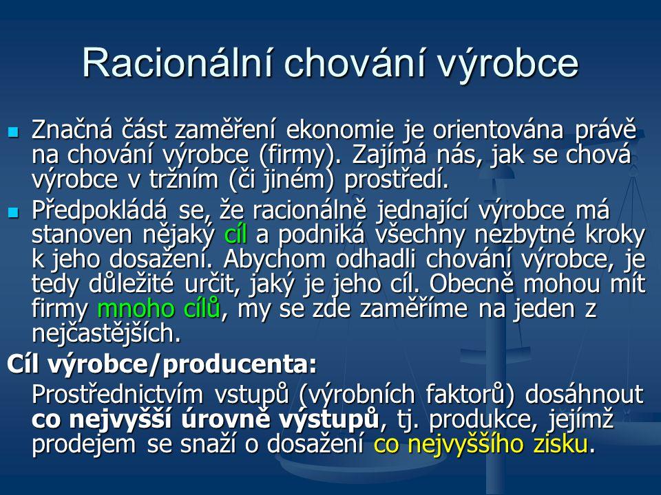 Racionální chování výrobce