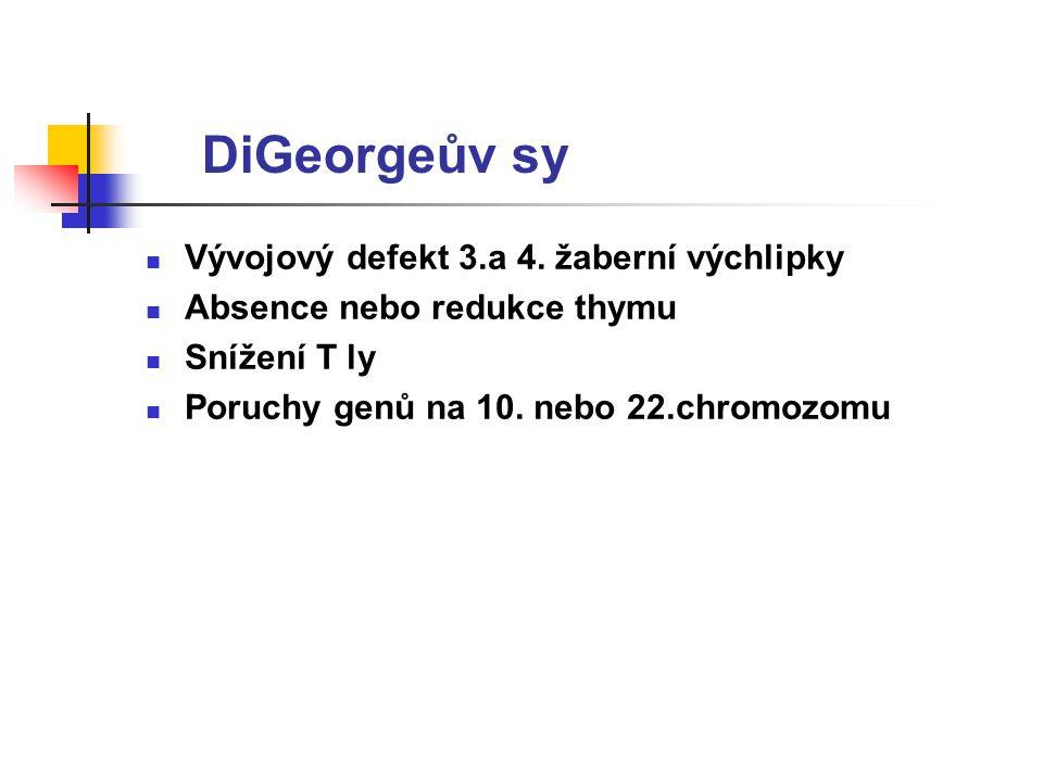 DiGeorgeův sy Vývojový defekt 3.a 4. žaberní výchlipky