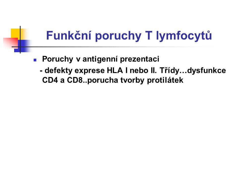 Funkční poruchy T lymfocytů