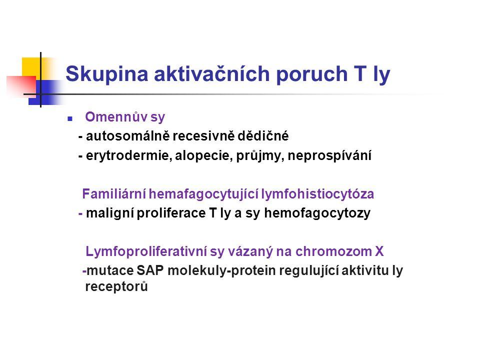 Skupina aktivačních poruch T ly