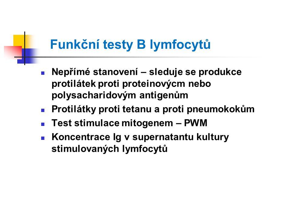 Funkční testy B lymfocytů