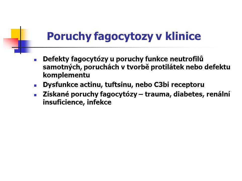 Poruchy fagocytozy v klinice