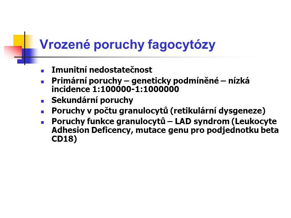 Vrozené poruchy fagocytózy