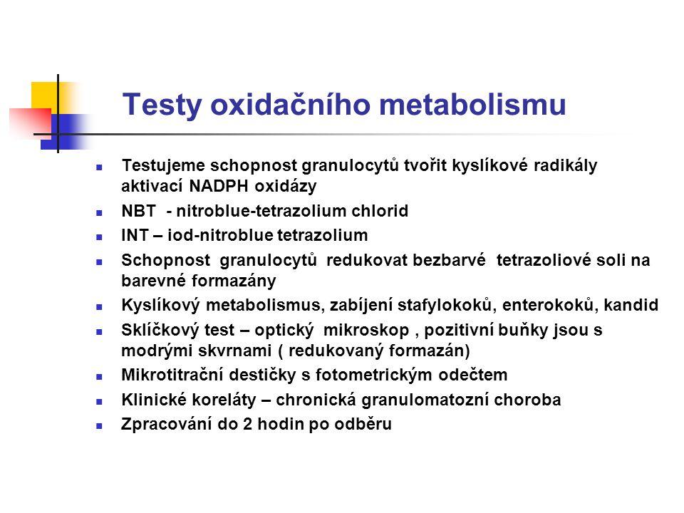Testy oxidačního metabolismu