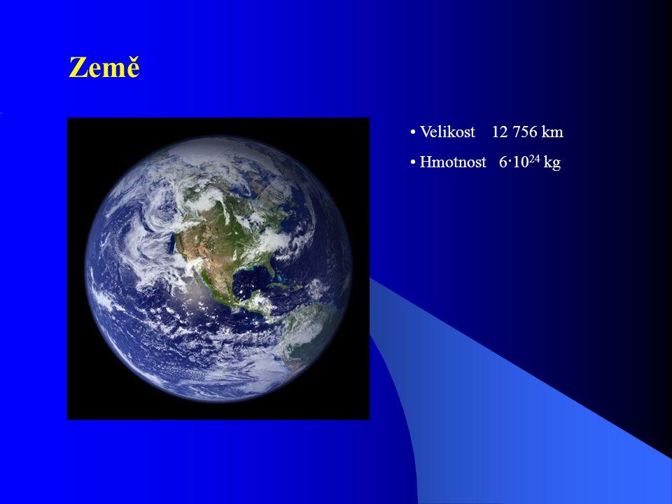 Země Velikost 12 756 km Hmotnost 6·1024 kg
