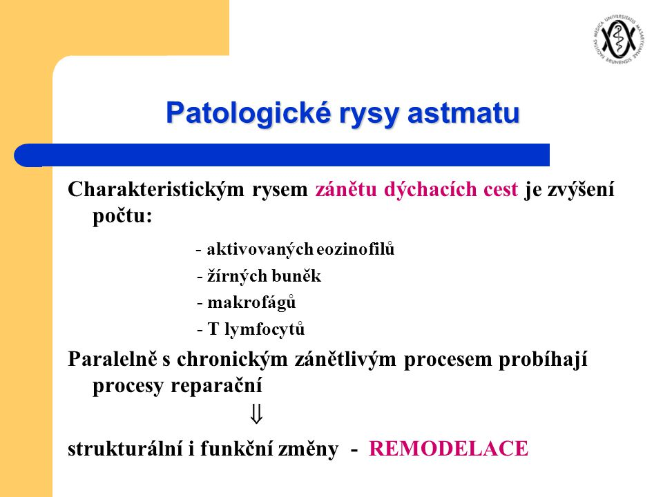 Patologické rysy astmatu