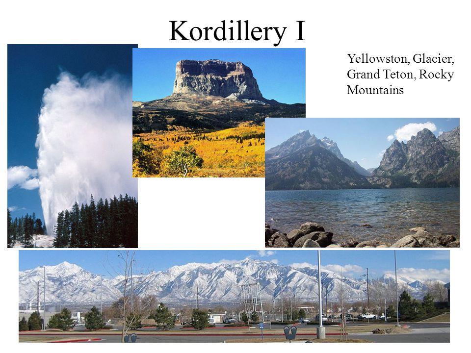 Kordillery I Yellowston, Glacier, Grand Teton, Rocky Mountains