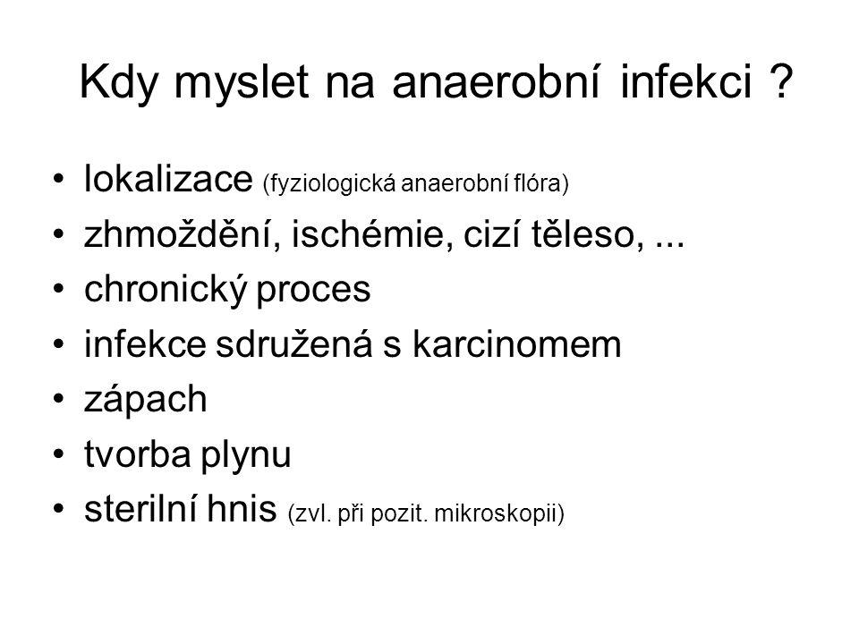 Kdy myslet na anaerobní infekci