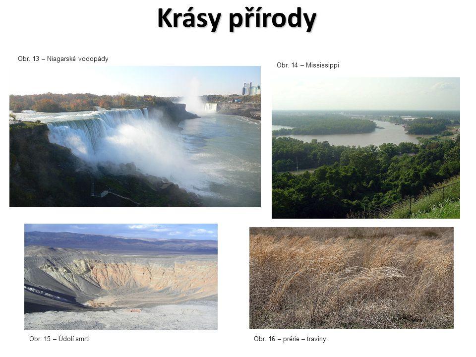 Krásy přírody Obr. 13 – Niagarské vodopády Obr. 14 – Mississippi