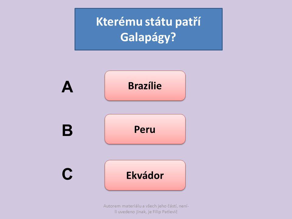Kterému státu patří Galapágy