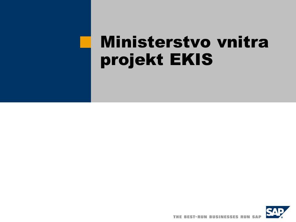 Ministerstvo vnitra projekt EKIS
