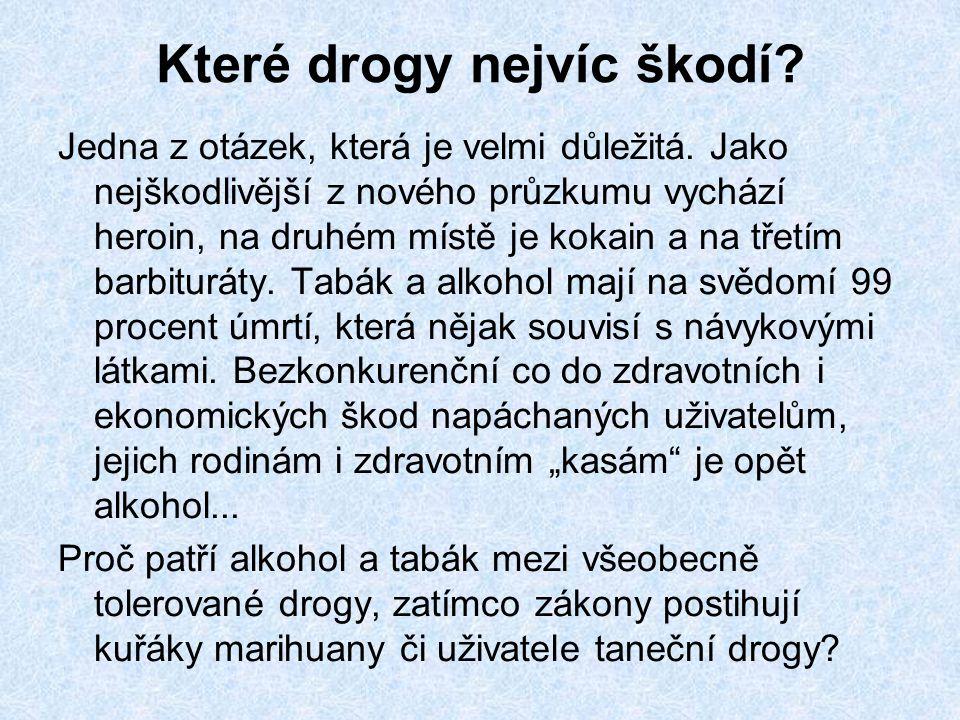 Které drogy nejvíc škodí